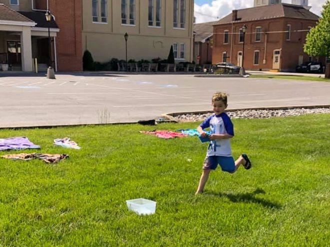 greencastle preschool student playing